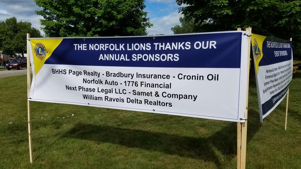 Lions Sponsorship Banner